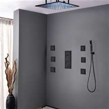Royal Multi Color Water Powered Led Shower with Adjustable Body Jets and Mixer
