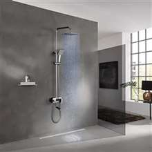Renaldo Chrome Temperature Control Color Changing Led Shower Set