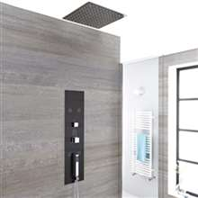 Fontana Luxurious Modern Concealed Thermostatic Waterfall Shower Panel with Hand Shower and Body Jets