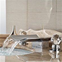 Crystal handle Brass Body LED Bathroom Sink Faucet