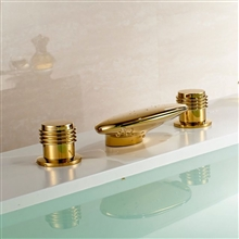 waterfall bathroom bathtub gold finish faucet