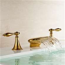 Gold Finish Bathroom Sink Faucet