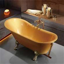 Rio Luxury Gold Acrylic Indoor Soaking Bathtub