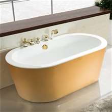 Milan Freestanding Soaking Indoor Acrylic Bathtub
