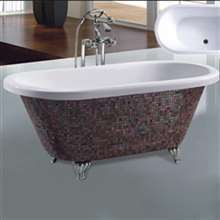Denver Fashion Design Mosaic Modern Indoor Bathtub