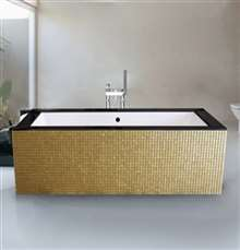Atlanta Two Person Luxury Mosaic Design Freestanding Bathtub
