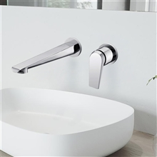 Napoli Polished Gold Single Handle Wall Mount Bathroom Sink Faucet