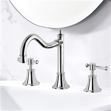 Reno Three Hole Deck Mount Bathroom Sink Faucet