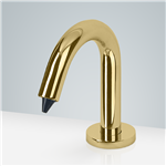Dijon Hand Free Deck Mount Commercial Soap Dispenser In Polished Brass Finish