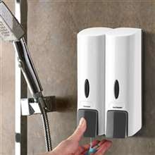 Fontana Sierra Wall Mount Two Chamber White Manual Liquid Soap Dispenser
