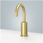 Commercial Automatic Brushed Gold Plated Motion Sensor Faucet