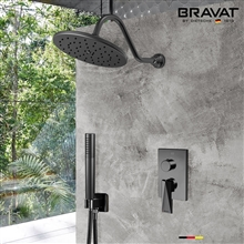 Bravat Shower Set With Valve Mixer 2-Way Concealed Wall Mounted In Dark Oil Rubbed Bronze