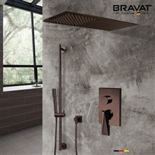 Light Oil Rubbed Bronze Waterfall & Rainfall Shower Set With Handheld Shower