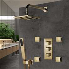 Fontana Shower Set With Valve Mixer 3-Way Concealed Wall Mounted In Brushed Gold