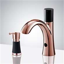 Fontana Rose Gold Sensor Faucet and Soap Dispenser