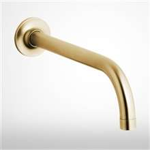 Fontana Brushed Gold Wall Mount Commercial Automatic Sensor Faucet With Insight Infrared Technology