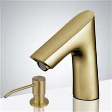 Fontana Commercial Brushed Gold Touchless Automatic Sensor Faucet
