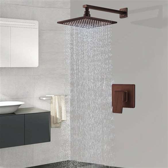 Fontana Rivera Oil Rubbed Bronze LED Rain Shower Set