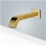 Fontana Commercial Automatic Wall Mount Brushed Gold Sensor Bathroom Faucet