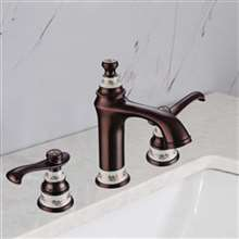 Gironde Dual Handle Oil Rubbed Bronze Bathroom Sink Faucet