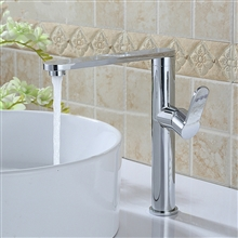Grassi Deck Mount Chrome Single Handle Bathroom Faucet