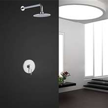 Soriano Wall Mount Chrome Finish Shower Set