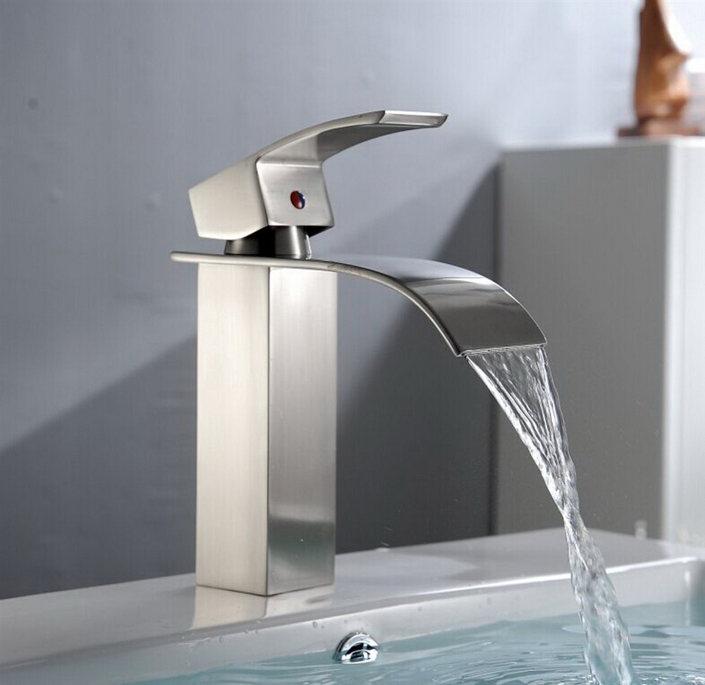 Merveilleux Our Kamloops Model Is A Modern Bathroom Faucet, Made Entirely From  Stainless Steel, With A Wide Spout That Creates A Nice Water Effect.
