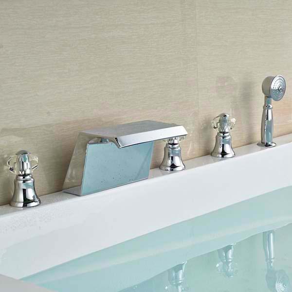 Siena Chrome Finish Solid Brass Bathtub Faucet