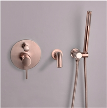 Fontana Toulouse Rose Gold Wall Mounted Shower Set