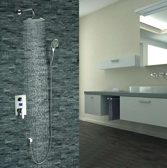 Mendoza Intelligent Chrome Shower Set with Digital Display