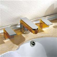 Solerno Posh Quality Brass Dual Handle Bathroom Faucet