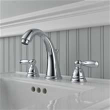 Quesnel Dual Handle Chrome Bathroom Sink Faucet