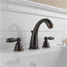 Quesnel Dual Handle Oil Rubbed Bronze Bathroom Sink Faucet