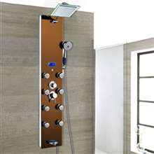 Ancona Oil Rubbed Bronze Rainfall Shower Panel with Body Massage Jets and Handshower