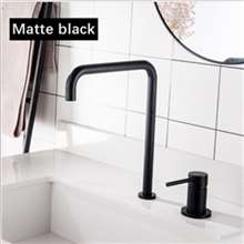 Fontana Cholet Matte Black Hot and Cold Kitchen Faucet