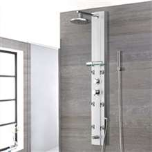 Nanaimo Aluminium Rain Fall Shower Panel Set with Massage System, Hand Shower & Faucet