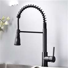 Fontana Bavaria Matte Black Finish No Sensor Stainless Steel Kitchen Faucet
