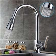 Fontana Le Havre Metallic Chrome Sensorless Kitchen Faucet with Pull Down Sprayer