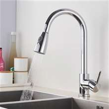 Fontana Chatou Chrome Sensorless Kitchen Faucet with Pull Down Sprayer