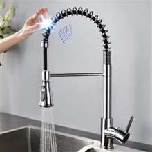 Fontana Valence Chrome Finish with Pull Down Sprayer Stainless Steel Smart Sensor Kitchen Faucet