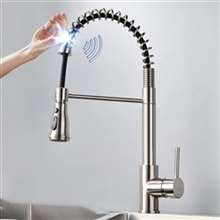 Fontana Verona Brushed Nickel Finish with Pull Down Sprayer Stainless Steel Smart Sensor Kitchen Faucet