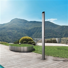 Fontana Silver Stainless Steel Outdoor Shower Column Panel