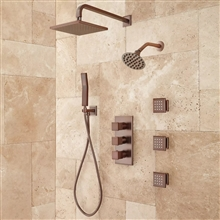 Fontana Colmar Dual Shower Head Jet Spray and Hand Shower in Oil Rubbed Bronze