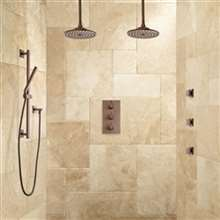 Fontana Couple Dual Showering System with Slidebar