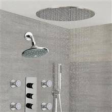 Fontana Couple Showering Fontana Dual Showers Jet Spray System