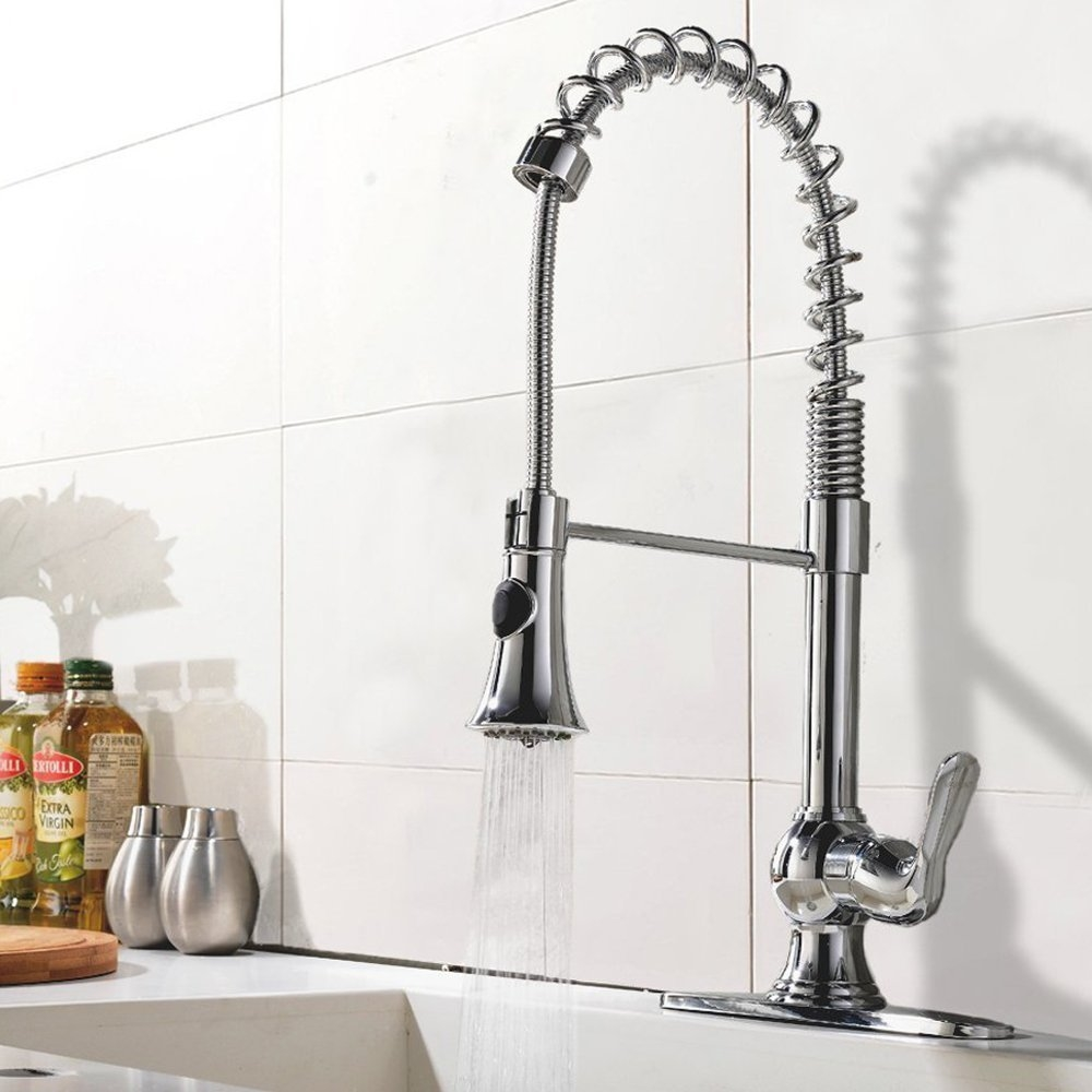 Pampa Chrome Finish Single Handle Kitchen Sink Faucet With
