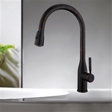 Fontana Chatou Brass Pull Down Sensorless Kitchen Faucet Oil Rubbed Bronze Finish