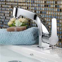 Besancon Deck Mounted Chrome Single Handle Bathroom Faucet