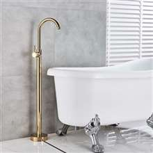 Fontana Geneva Floor Mounted Tub Sink Faucet Single Handle Gold Finish