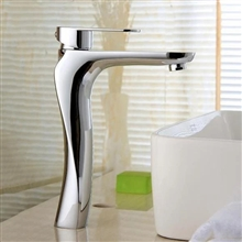Rovigo Solid Brass Single Handle Chrome Bathroom Faucet